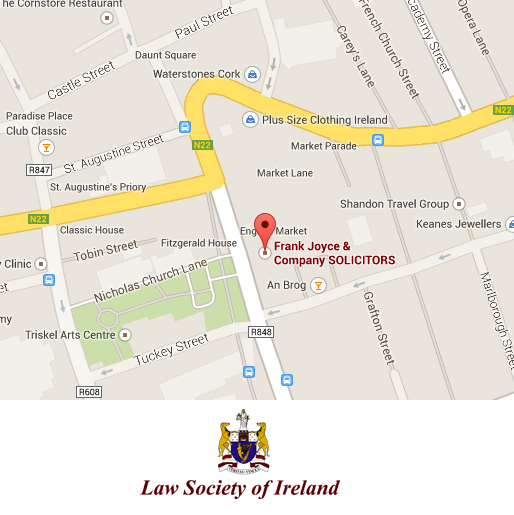google-map-frank-joyce-solicitor-cork